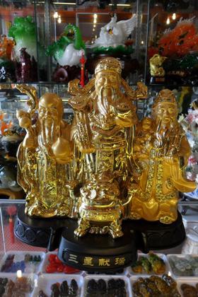 Bộ Phúc Lộc Thọ Phong Thủy Vàng