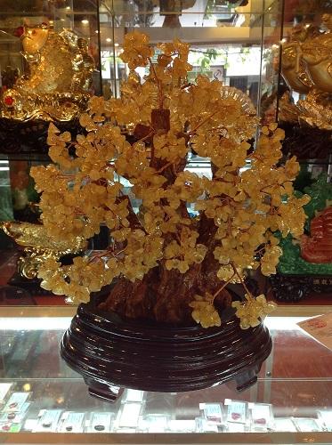 Cây Đá Phong Thủy Thạch Anh Vàng - CLV108