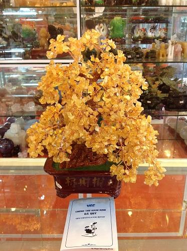 Cây Tài Lộc Đá Thạch Anh Vàng Tự Nhiên - CLV420