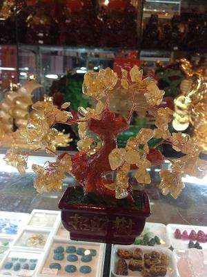Cây Tài Lộc Đá Quý Thạch Anh Vàng CLV68