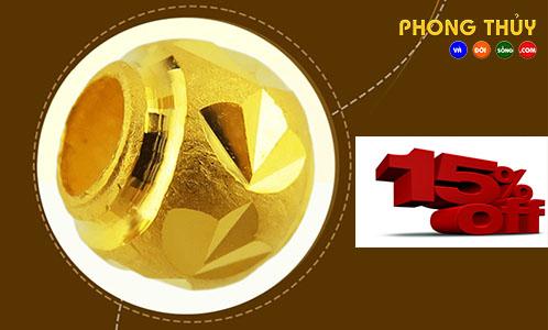 Charm Bi Vàng Khắc Máy 9999 - KM680