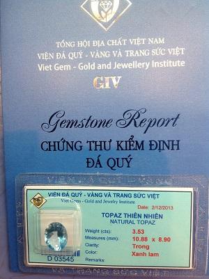 Mặt Nhẫn Đá Topaz Cao Cấp - TPZX-03545