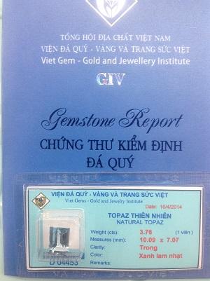 Đá Topaz Cao Cấp Tự Nhiên - TPZX-04453