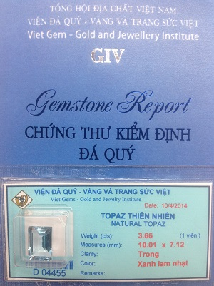 Đá Topaz Tự Nhiên Cao Cấp - TPXZ-04455