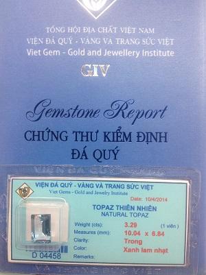 Đá Topaz Tự Nhiên Cao Cấp - TPXZ-04458