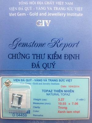 Đá Topaz Tự Nhiên Cao Cấp - TPZX-04459