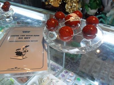 Thất Tinh Trận Đồ Ngọc Bích Đỏ - Bùa Chú Tài Khí Công Danh - DNBD2500