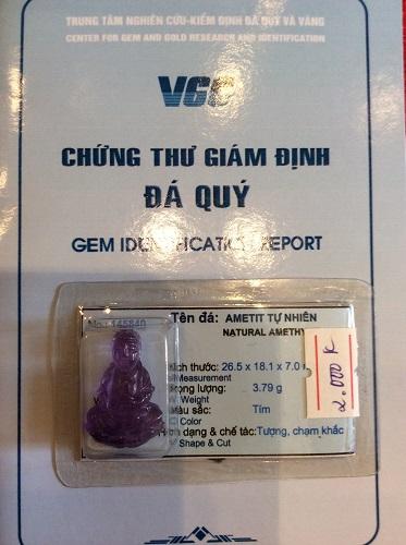 Mặt Phật Bà Quan Âm Đá Thạch Anh Tím - 145840