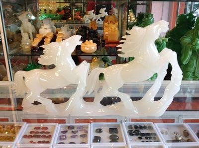 Ngựa Phong Thủy - Bạch Ngọc Tự Nhiên - 131042