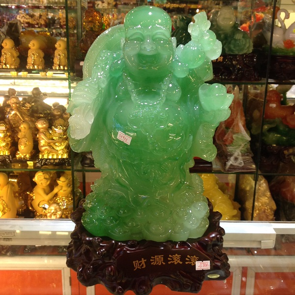 Tượng Phật Di Lặc - 01421 - Xanh