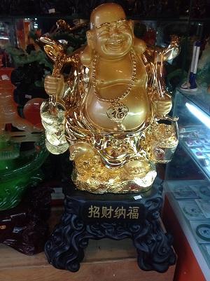 Phật Di Lặc Mãn Phước Nhân Gian Mạ Vàng - 5202 - 76 cm
