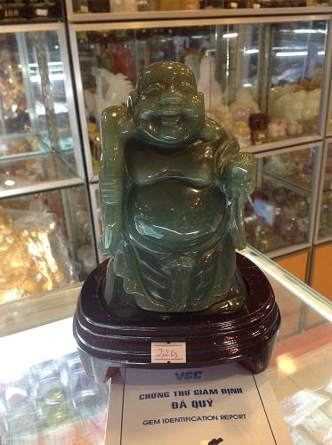 Tượng Phật Di Lặc Đá Thạch Anh Xanh - TPDX7700