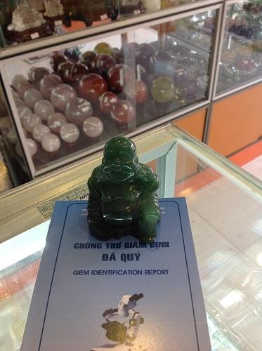 Tượng Phật Di Lặc Đá Thạch Anh Xanh - TPDX1280