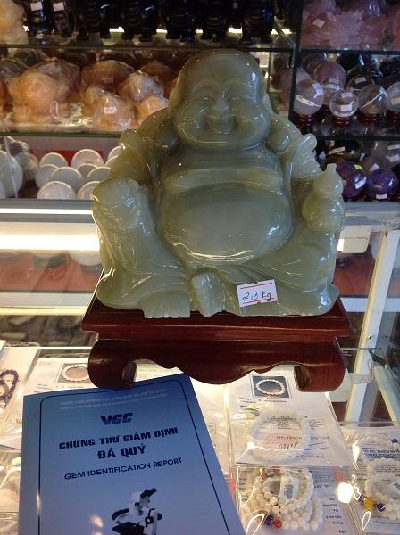 Tượng Phật Di Lặc Ngọc Cẩm Thạch Tự Nhiên - 154347
