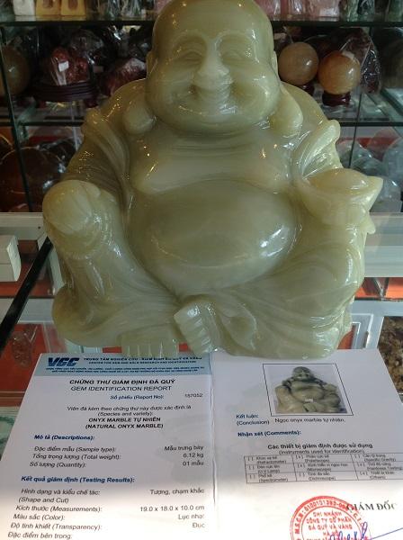 Tượng Phật Di Lặc Ngọc Cẩm Thạch Tự Nhiên - 157502
