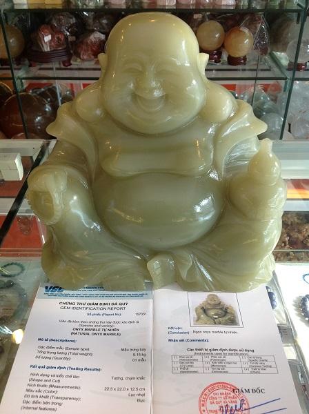 Tượng Phật Di Lặc Ngọc Cẩm Thạch Tự Nhiên - 157051