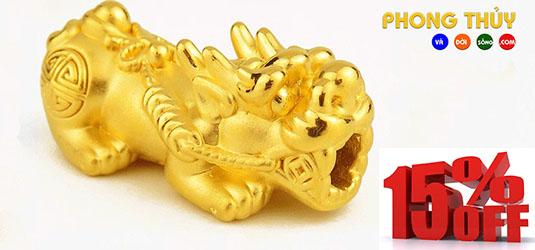 Charm Tỳ Hưu Vàng 9999 - Size Mini - M1280
