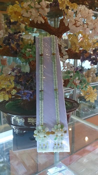 Vòng Cổ Hoa Mẫu Đơn Ngọc Phỉ Thúy Tự Nhiên CPT-1880