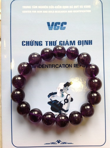 Vòng Tay Đá Thạch Anh Tím Hạt Tròn 12 ly Cao Cấp Tím Đậm - VT12 - 1300
